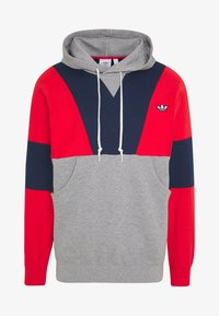 adidas Originals - HOODY - Bluza z kapturem - red/mottled grey/dark blue - 3