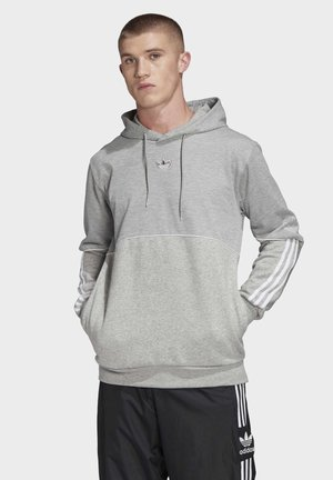 OUTLINE HOODIE - Sweat à capuche - grey