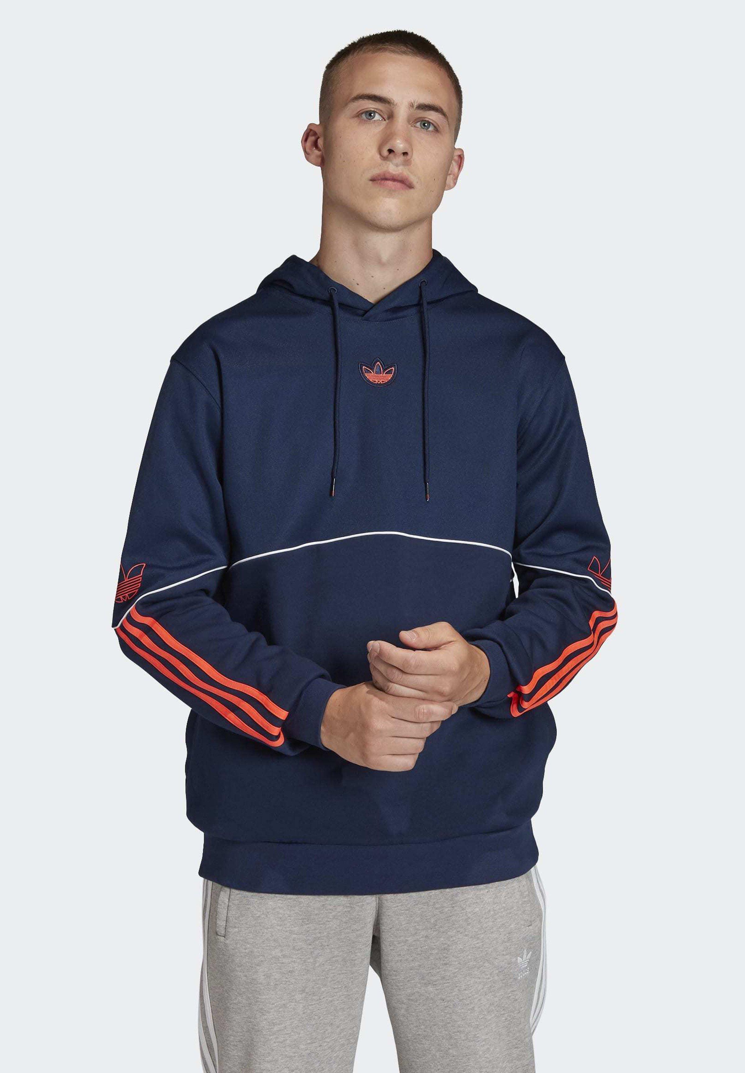 adidas Originals OUTLINE HOODIE Sweat à capuche blue