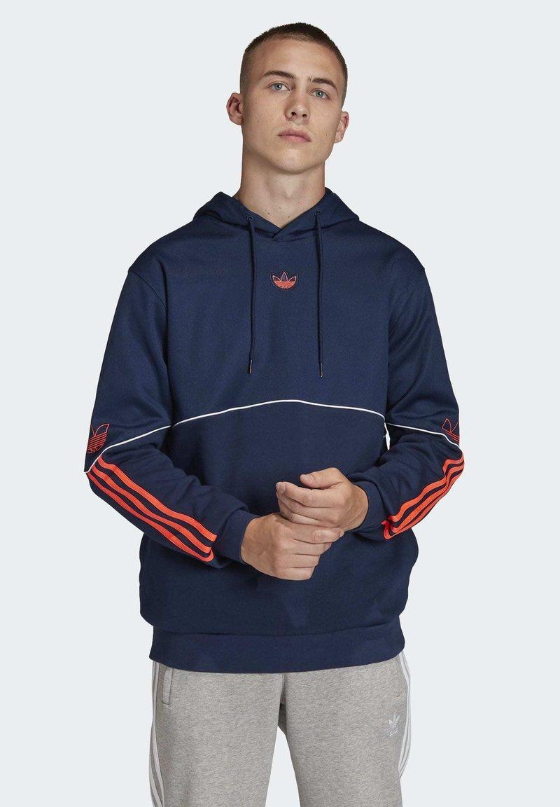 adidas Originals - OUTLINE HOODIE - Hoodie - blue