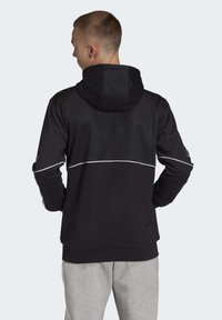 adidas Originals - OUTLINE HOODIE - Felpa aperta - black - 1