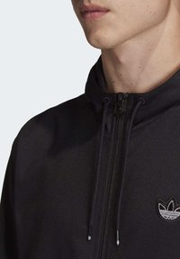 adidas Originals - OUTLINE HOODIE - Felpa aperta - black - 5