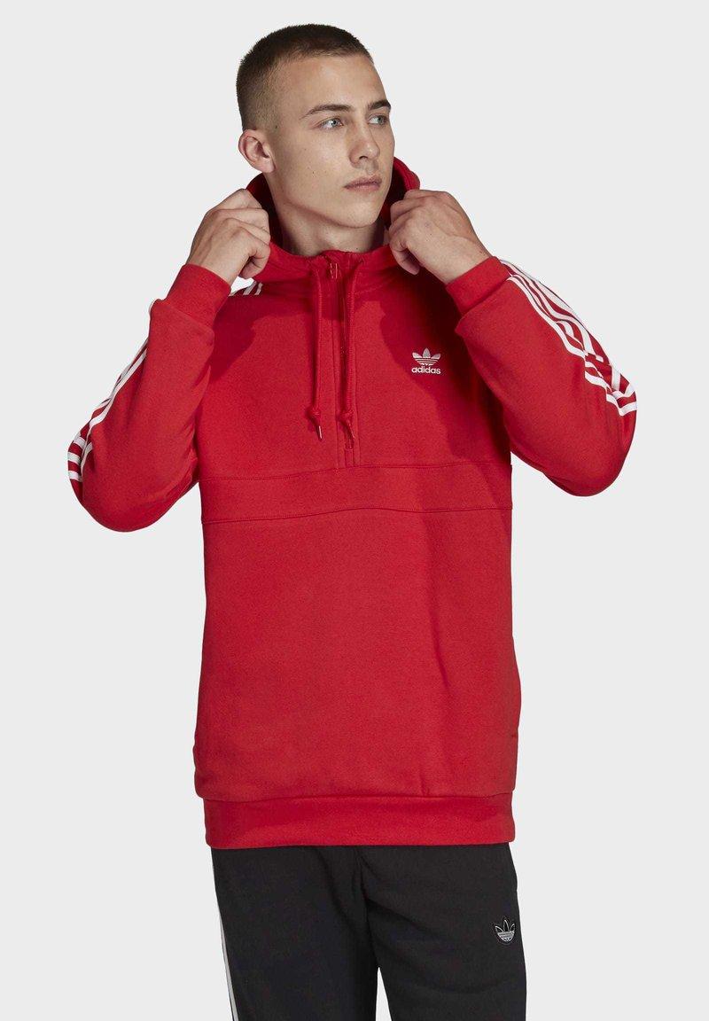 adidas Originals - STRIPES HOODIE - Huppari - red