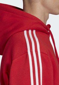 adidas Originals - STRIPES HOODIE - Huppari - red - 4