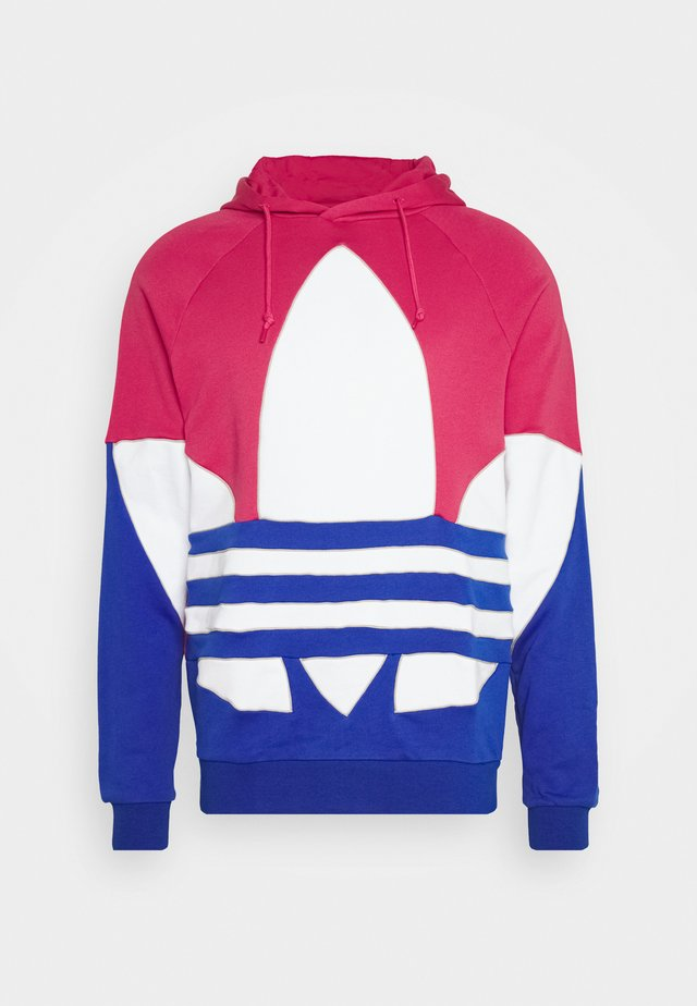 OUT HOOD - Jersey con capucha - powpnk/white/royblu