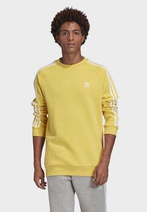 3-STRIPES CREWNECK SWEATSHIRT - Collegepaita - yellow
