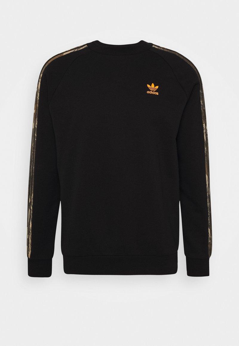 adidas Originals - CAMO CREWNECK - Sweatshirt - black