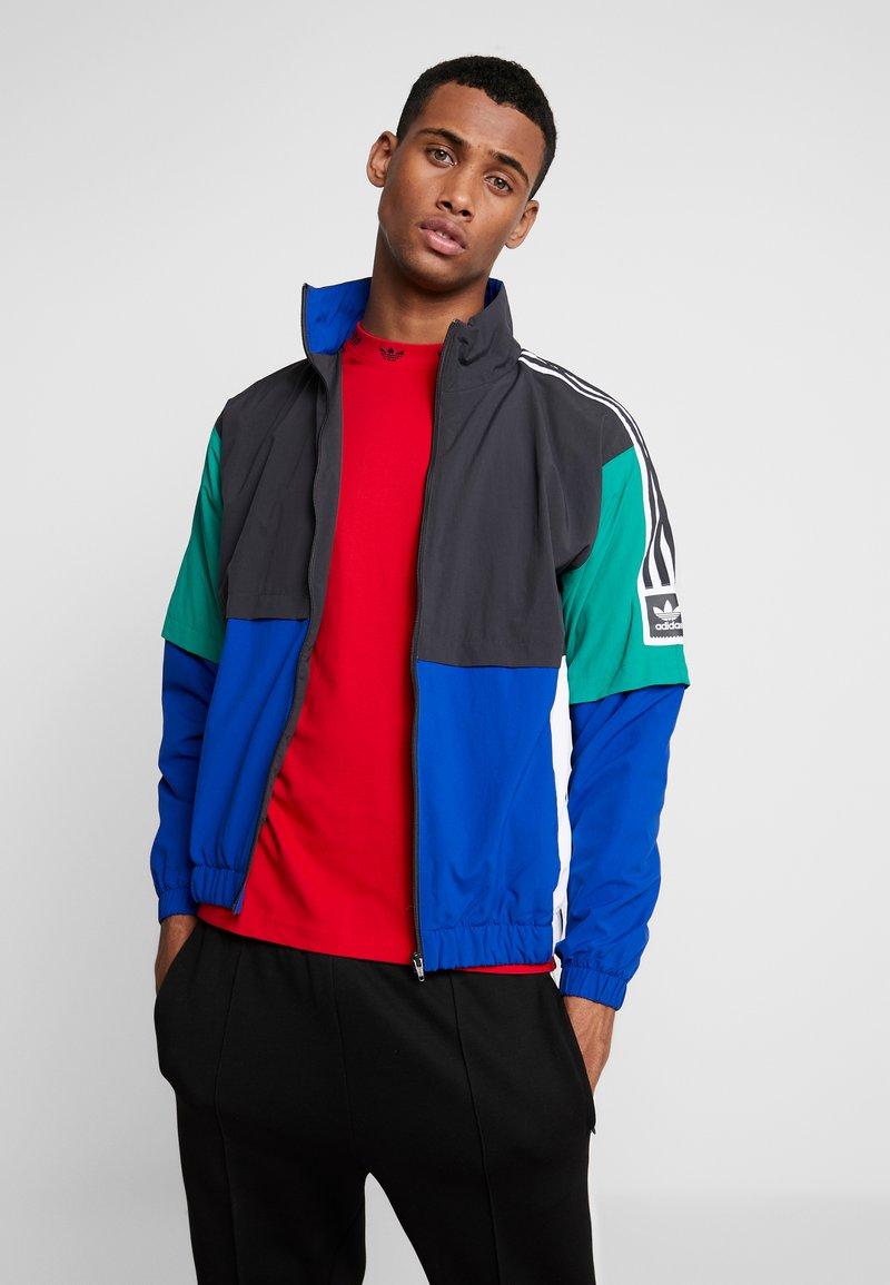 adidas Originals - Training jacket - carbon/collegiate royal/bold green/white