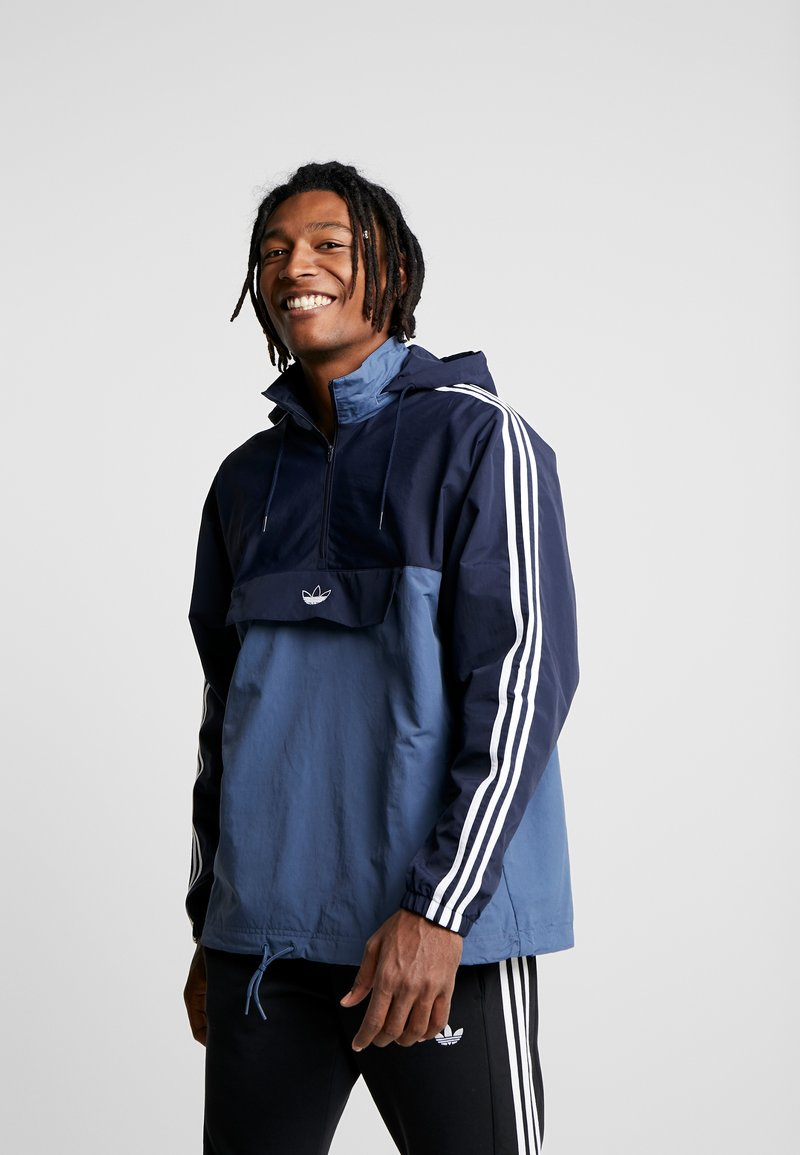 adidas Originals - OUTLINE ZIP - Cortaviento - tech ink legend