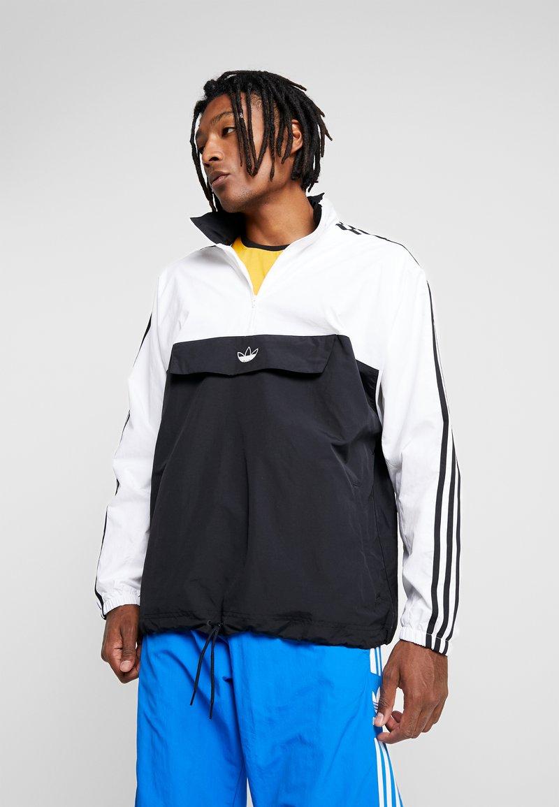adidas Originals - OUTLINE ZIP - Vindjacka - black/white