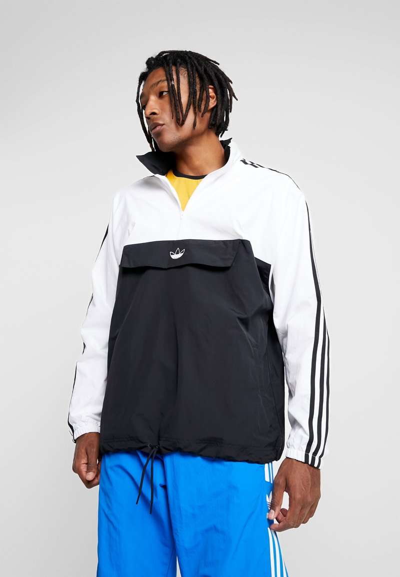 adidas Originals - OUTLINE ZIP - Větrovka - black/white