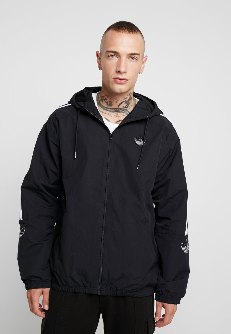 adidas Originals - OUTLINE WINDBREAKER JACKET - Lehká bunda - black