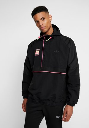 HOODED JACKET - Windjack - black