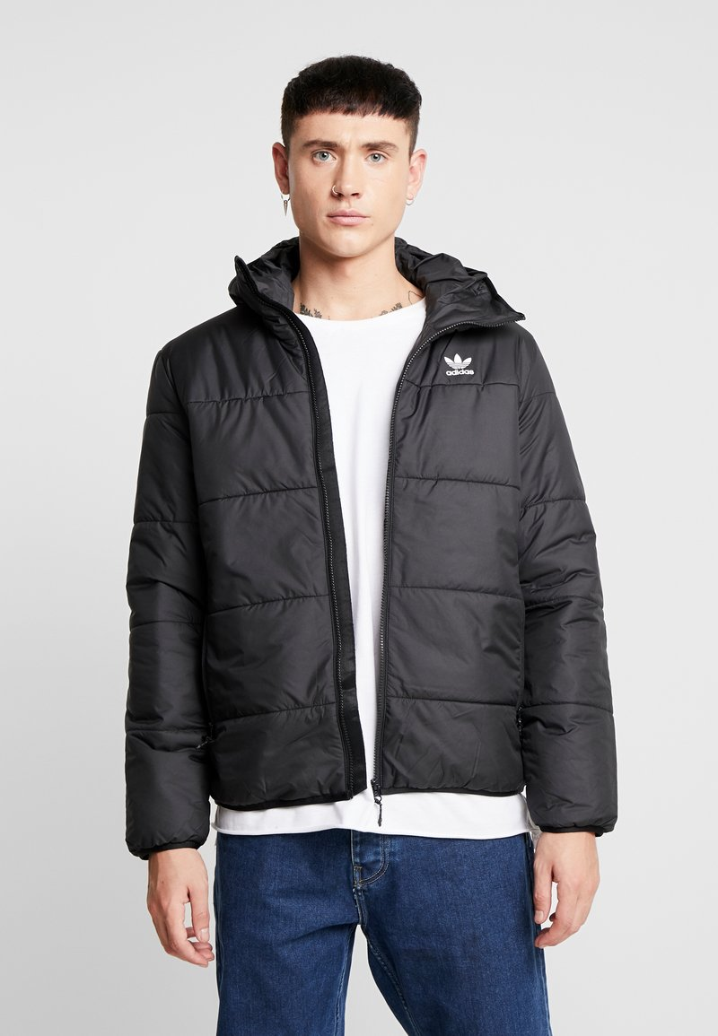 adidas Originals - ADICOLOR THIN PADDED BOMBERJACKET - Vinterjacka - black