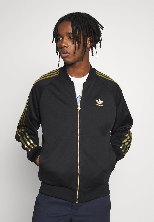 SUPERSTAR SPORT INSPIRED TRACK TOP - Trainingsjacke - black/gold