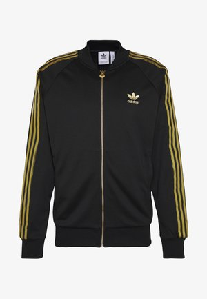 SUPERSTAR SPORT INSPIRED TRACK TOP - Sportovní bunda - black/gold