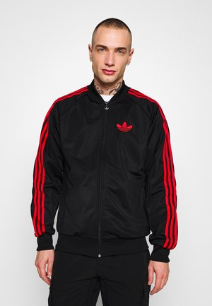 SUPERSTAR SPORT INSPIRED TRACK TOP - Sportovní bunda - black/red