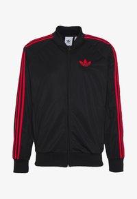 adidas Originals - SUPERSTAR SPORT INSPIRED TRACK TOP - Giacca sportiva - black/red - 4