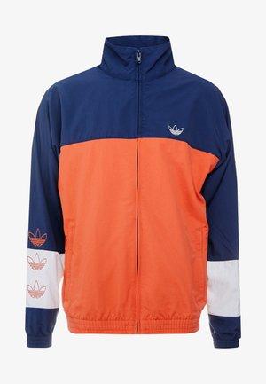 BLOCKED WARM UP - Summer jacket - raw amber/collegiate navy
