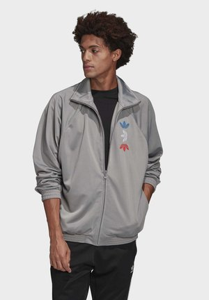 METALLIC TRACK TOP - Training jacket - grey