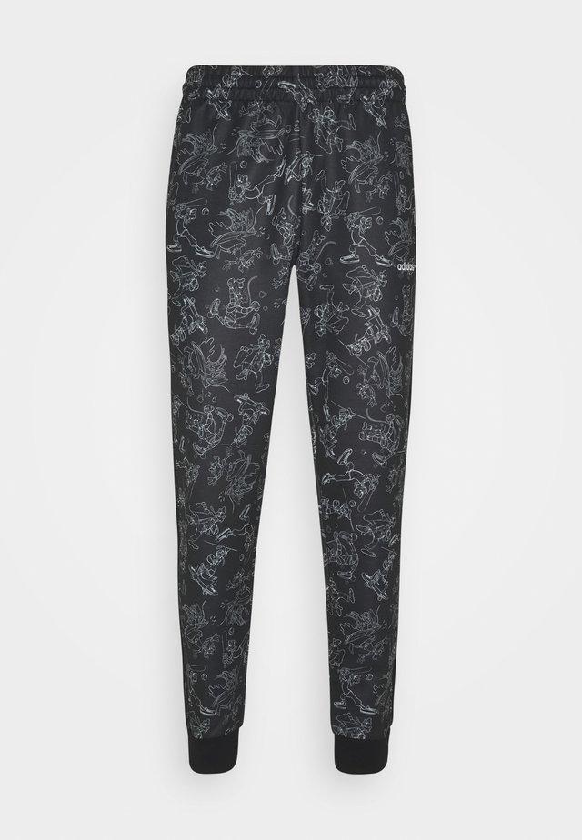 GOOFY - Spodnie treningowe - black/white