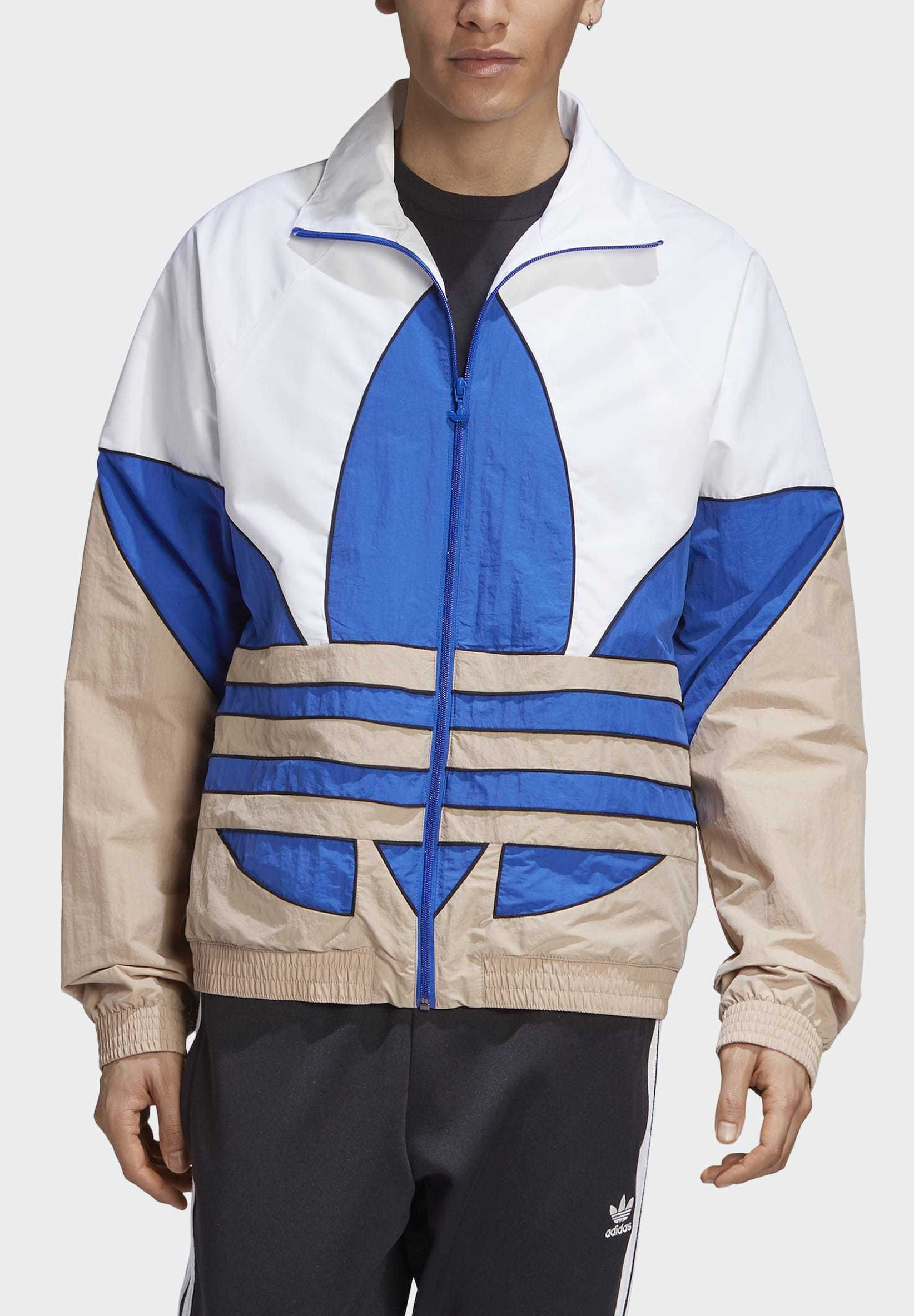Adidas Originals Big Trefoil Woven Track Top - Giacca Sportiva White oQ7iw