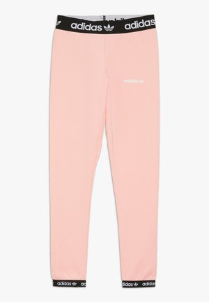 Legginsy - glow pink/black/white