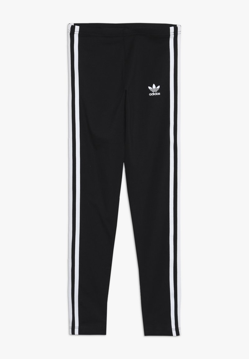 adidas Originals - 3 STRIPES  - Leggings - black/white