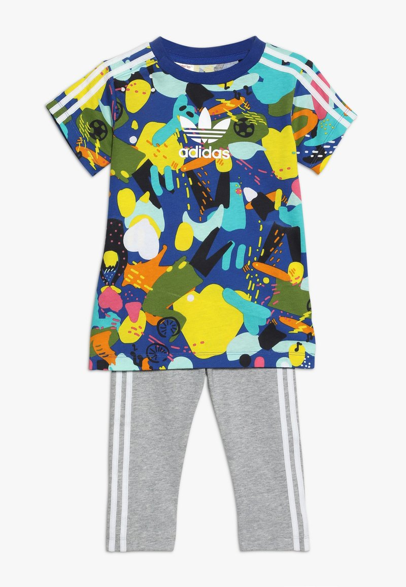 adidas Originals - TEE DRESS SET - Leggings - Trousers - multco/white