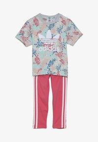 adidas Originals - TEE SET  - Leggings - multicolor/real pink - 4