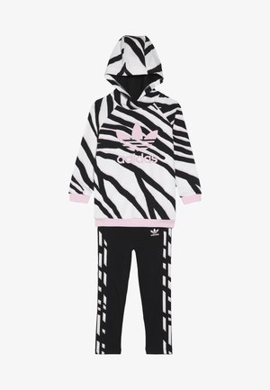 HOODIE SET - Survêtement - black/white/clear pink