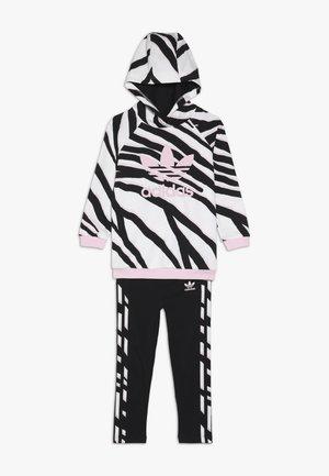 HOODIE SET - Tracksuit - black/white/clear pink