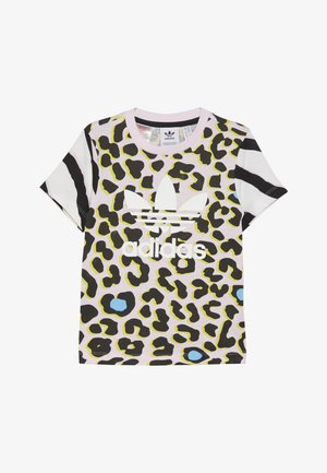 TEE - T-Shirt print - multicolor/clear pink/black