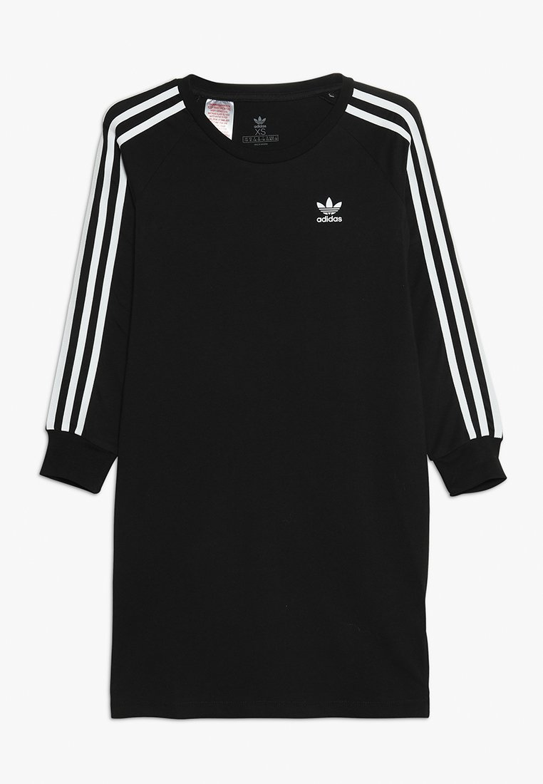 adidas Originals - 3STRIPES DRESS - Jerseyjurk - black/white