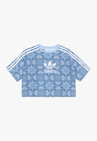 adidas Originals - STRIPES TEE - T-shirt print - multco/clesky/white - 0