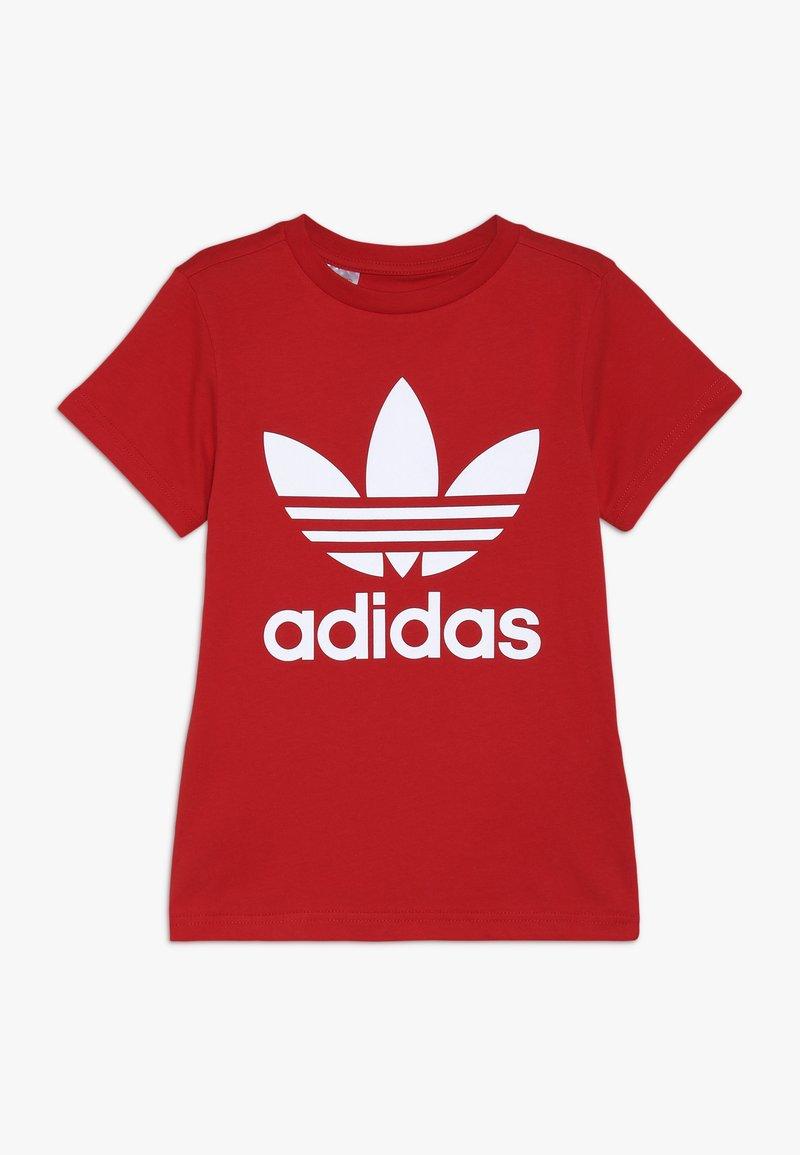 adidas Originals - TREFOIL TEE - T-Shirt print - red