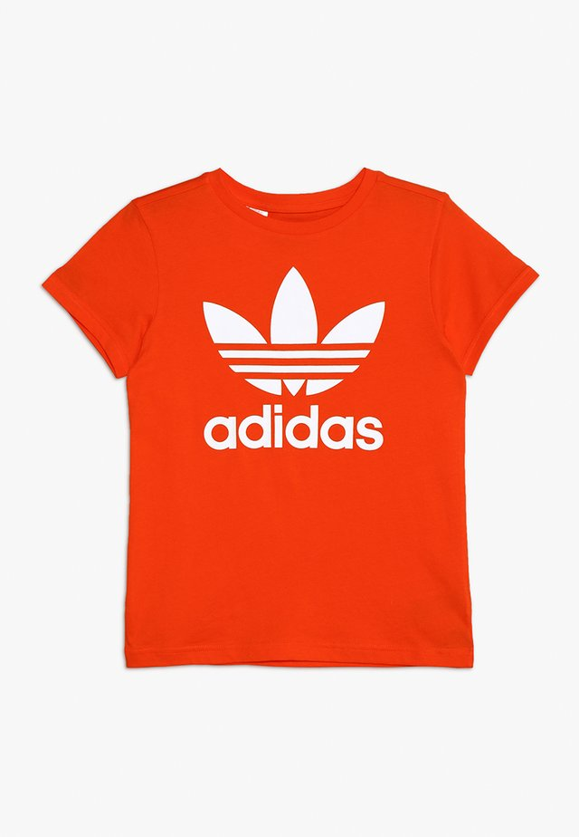 TREFOIL TEE - T-shirt con stampa - active orange/white