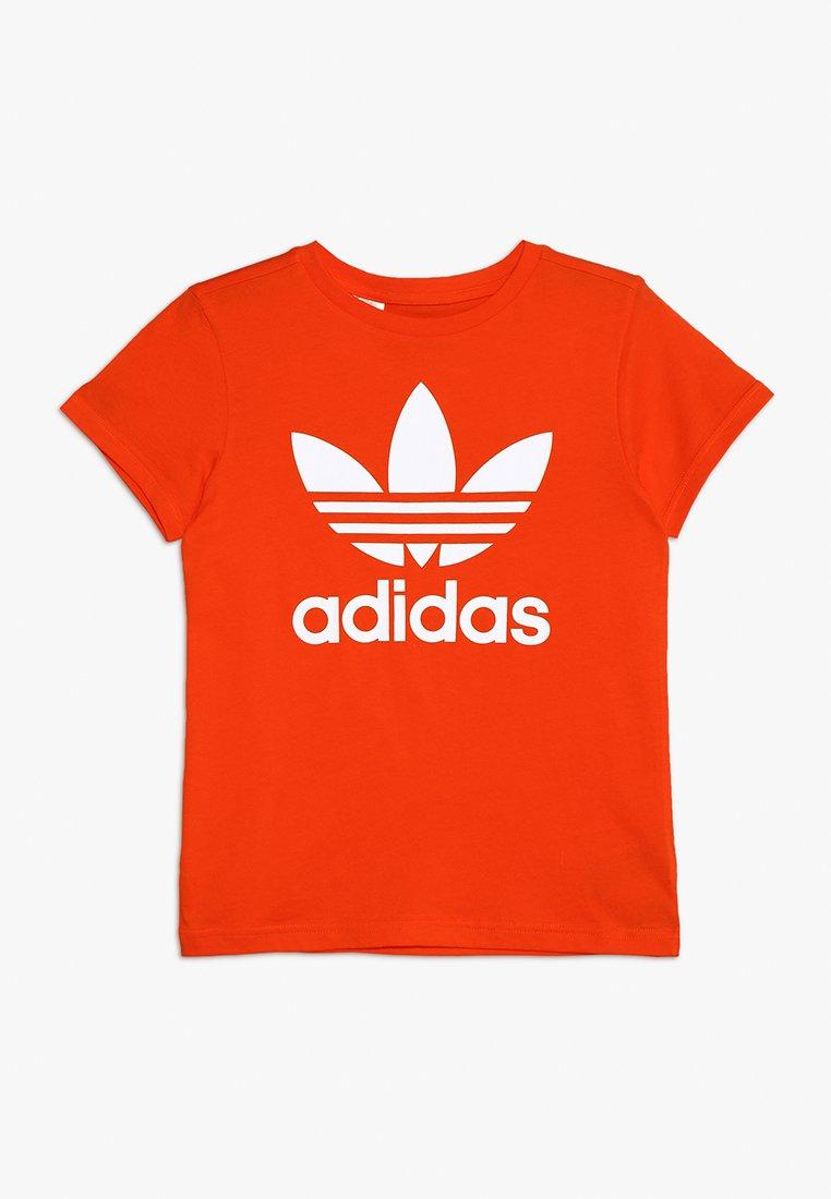 adidas Originals - TREFOIL TEE - T-shirt con stampa - active orange/white