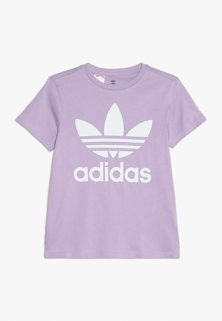 adidas Originals - TREFOIL  - T-shirts med print - purple glow/white
