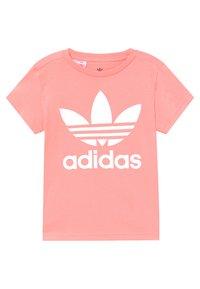 adidas Originals - TREFOIL TEE - T-shirt con stampa - pink/white - 3