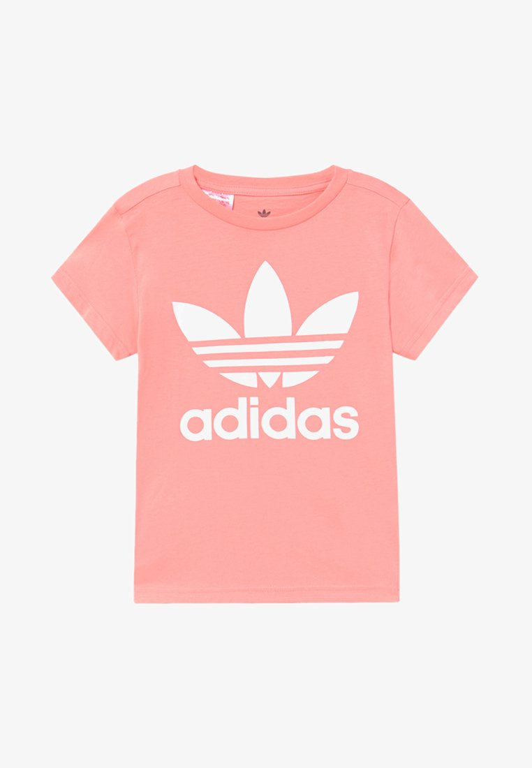 adidas Originals - TREFOIL TEE - T-shirt con stampa - pink/white
