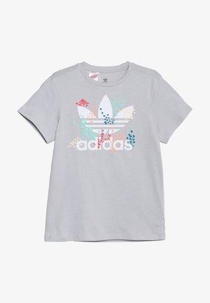TEE - T-shirt imprimé - light solar grey/white