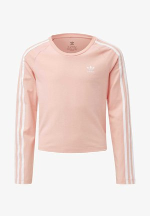 STRIPES CROPPED LONG-SLEEVE TOP - Pitkähihainen paita - glory pink
