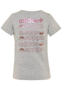 adidas Originals - LOGO TEE - Print T-shirt - medium grey heather/scarlet - 1