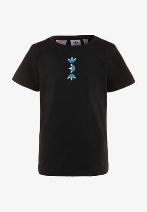 LOGO TEE - T-shirt print - black/royal blue