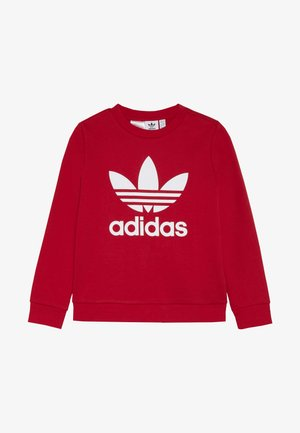 TREFOIL CREW - Sweater - scarlet/white