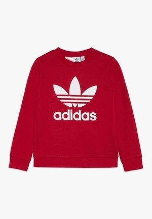 TREFOIL CREW - Sweatshirt - scarlet/white
