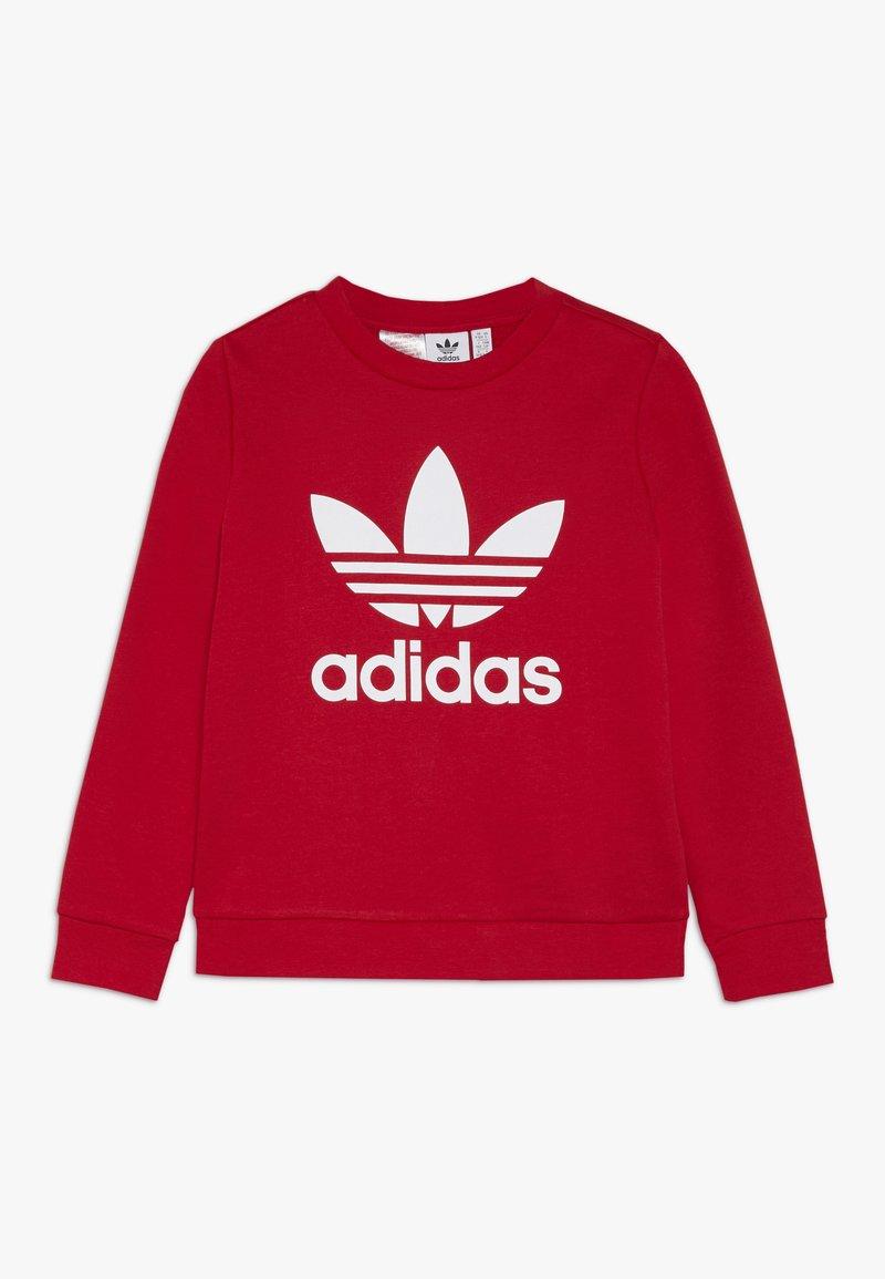 adidas Originals - TREFOIL CREW - Mikina - scarlet/white