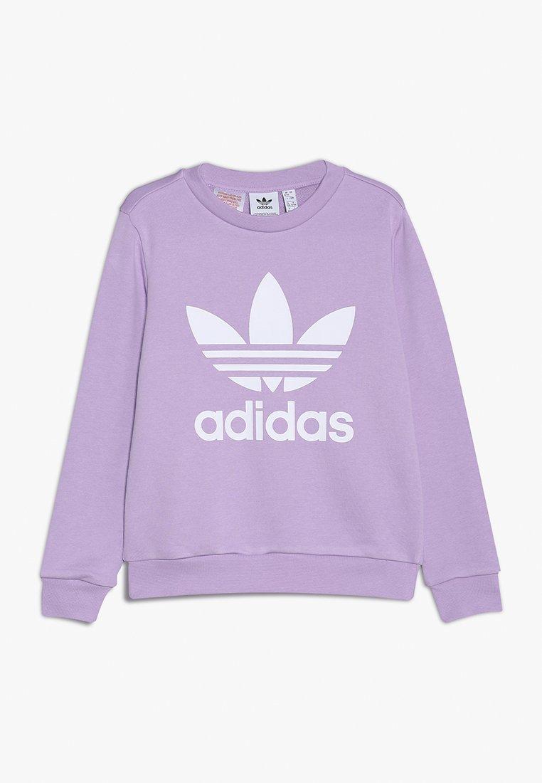 adidas Originals - TREFOIL CREW - Sweatshirt - purple glow/white