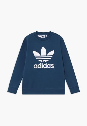 TREFOIL CREW - Sweatshirt - dark blue/white